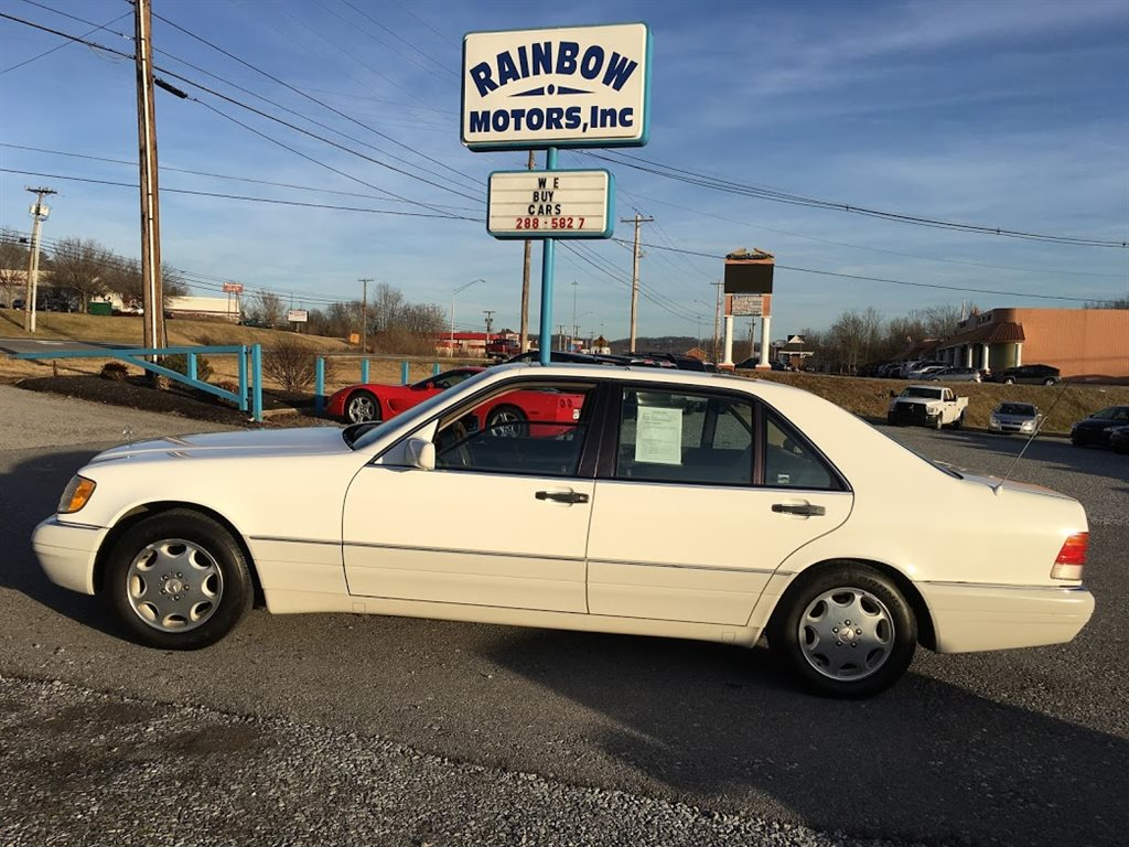 1996 MERCEDES-BENZ S CLASS  4D SEDAN  3.2L I-6 EFI  WHITE IN COLOR, AUTOMATIC, 83888 MILES LOCATED AT RAINBOW MOTORS INC 937 E STONE DR KINGSPORT TN 37660 423-288-5827 RAINBOWMOTORSINC.COM